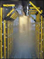 low-pressure spray pretreatment system.