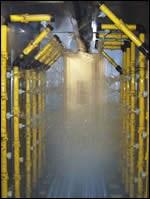 low-pressure spray pretreatment system.