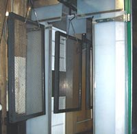 Coated parts exit