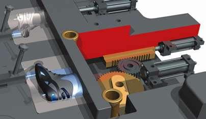 Actuator-driven slide detail