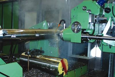 Milling in a gundrilling machine