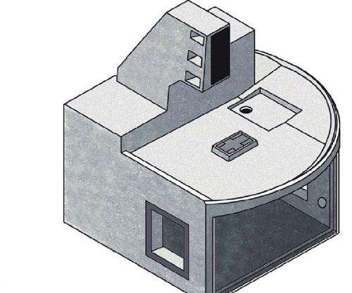 For maximum rigidity, micro-milling works well using a C-frame machine construction.