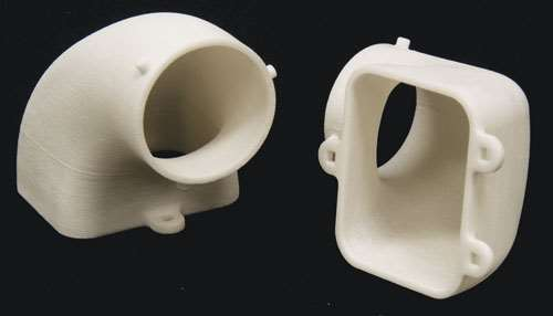 Two one-piece aerospace ducts