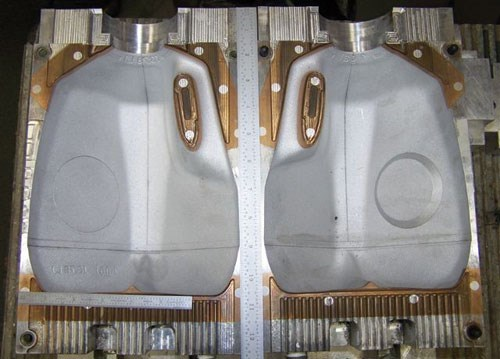 Two halves of the mold