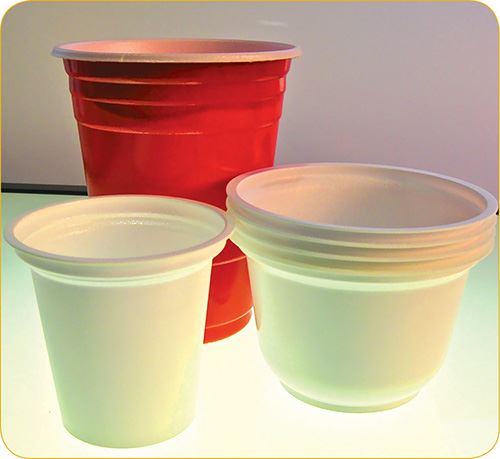 Foamed PS sheet for packaging is made with Styron's CO2RE technology
