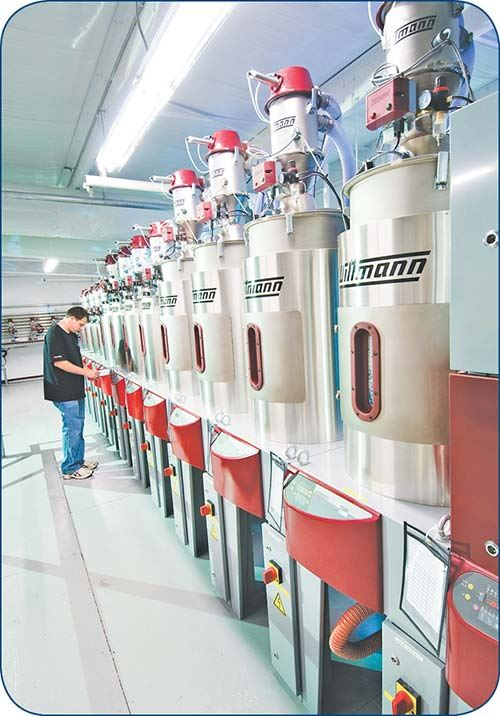 Wittmann drying and materials conveying system at Vision Technical Molding