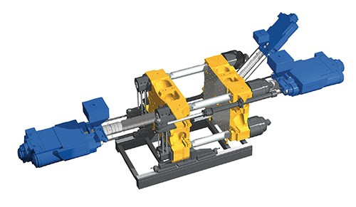 Multi-component injection molding machine from Engel Machinery.