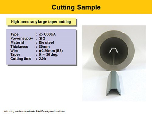 high accuracy large taper cutting