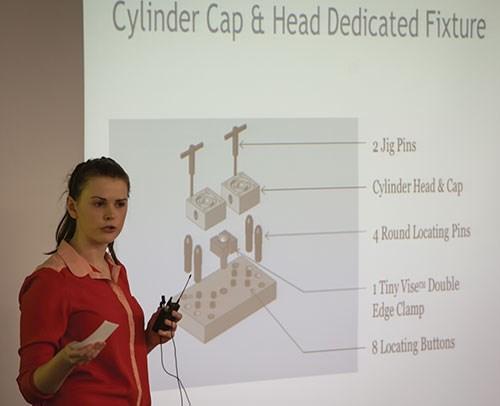 manufacturing engineering technology student Sara McKee