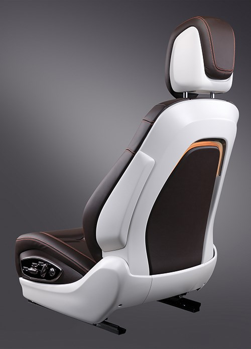 sitting pretty car seat concept scores a first compositesworld. Black Bedroom Furniture Sets. Home Design Ideas