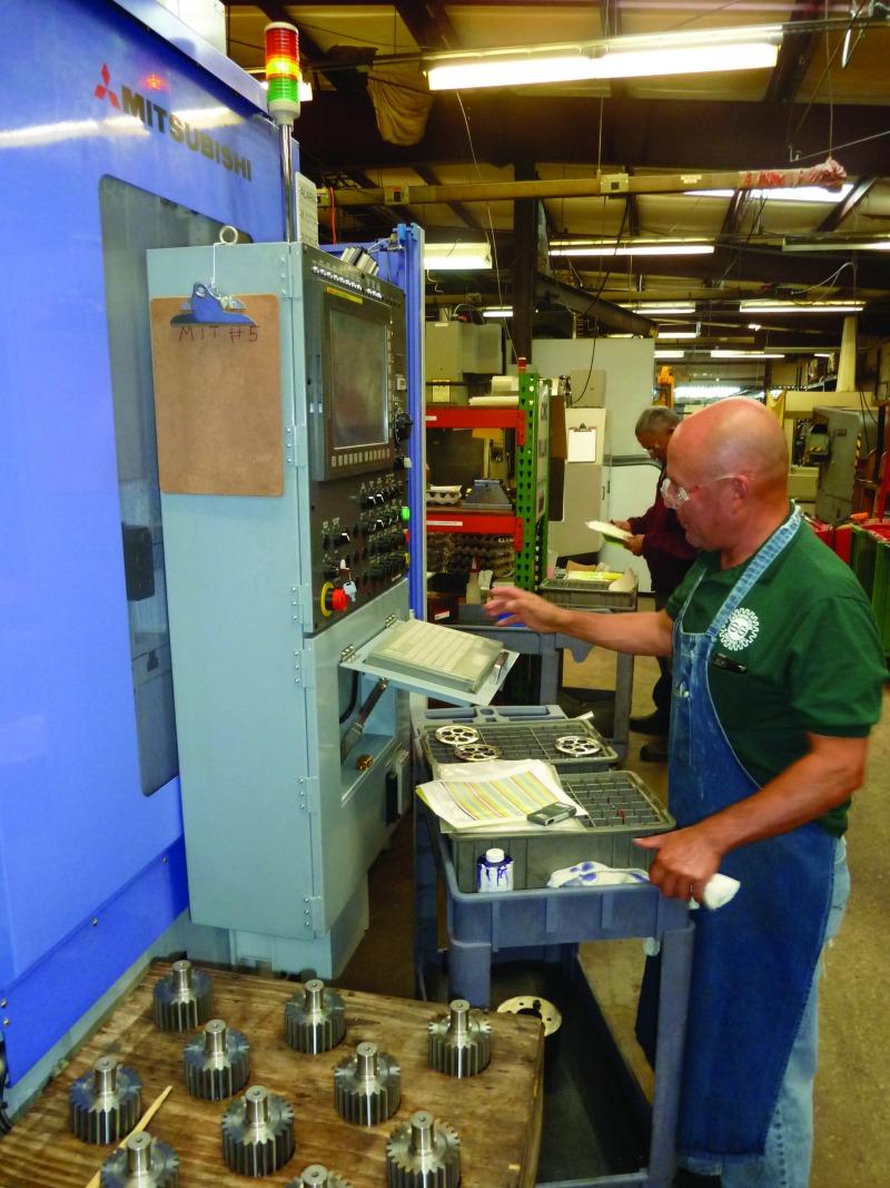 Adam Urizar, a cutting machinist at Souther Gear