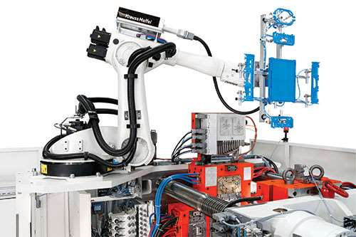 press mounted robots