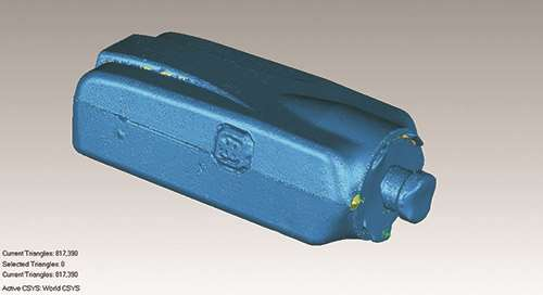 CAD model of camera cover