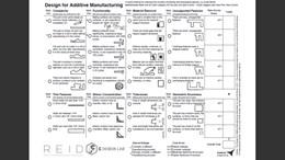 Design for additive manufacturing (DFAM) worksheet