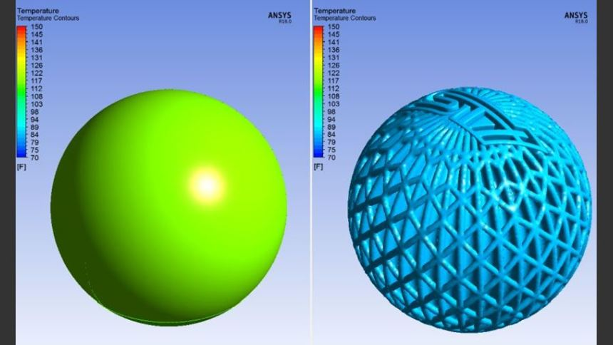 thermal simulation of 3d-printed and solid shift knobs
