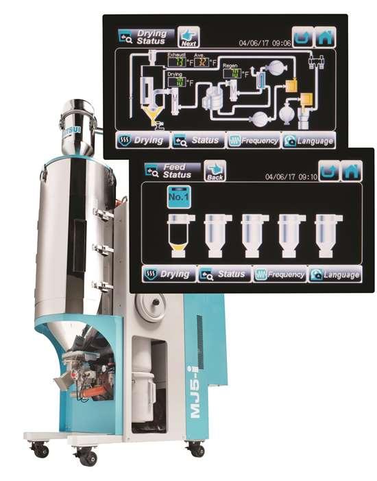 Matsui MJ5-i dehumidifying dryer control panel