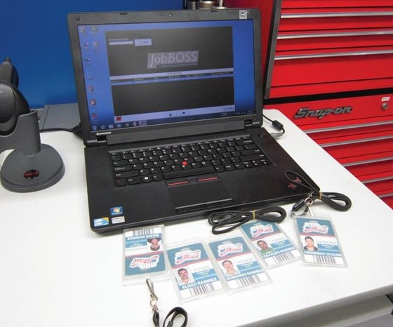 ERP software, name badges