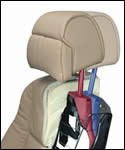 Electronically activated head restraint
