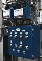 Kinetix electrostatic spray system plus automated purging