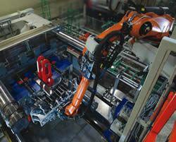 Robot extracting a bumper