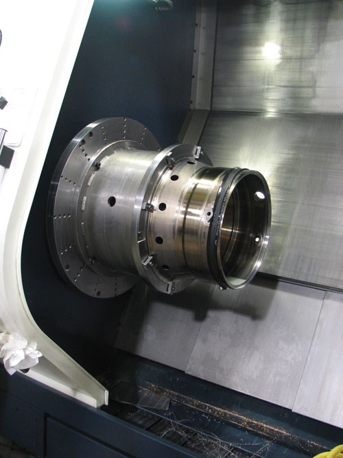 Workpiece with bicycle tire