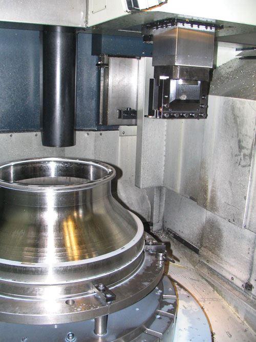 Cone shaped workpiece