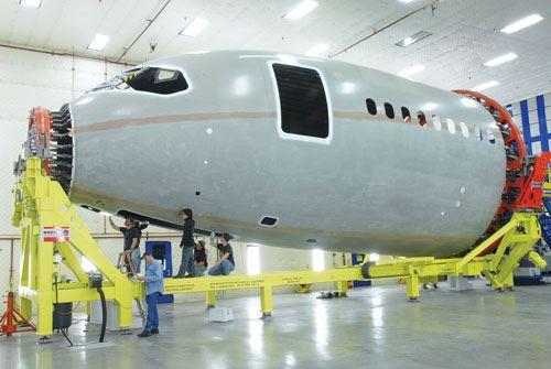 Boeing 787 and ElectroImpact Machine