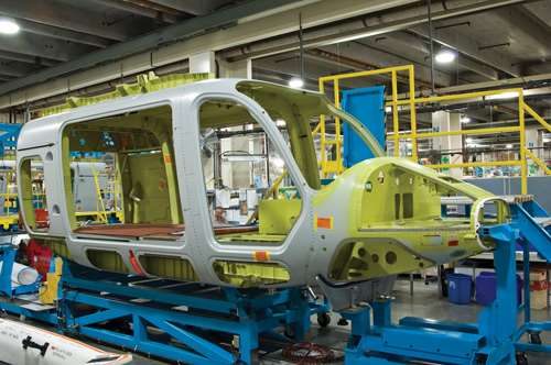 Bell 429 cabin structure
