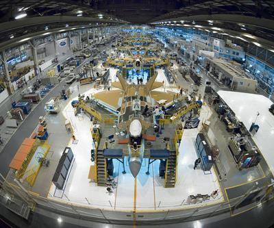 F-22 assembly line