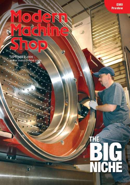 Modern Machine Shop cover story, September 2009