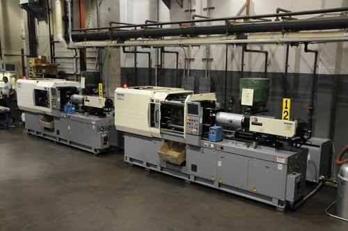 Two Nissei Hybrid type injection machines
