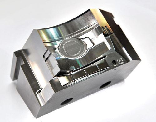 steel insert for electronics case mold