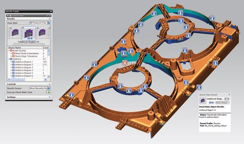 3-D CAD model data display