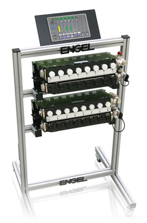 Engel injection molding system for thermoplastic composites