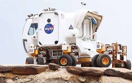 NASA Mars Rover with 3D printed parts from Stratasys technology