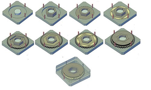 Hybrid gear fabrication steps