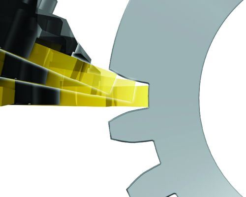 turn-milling of the upper gear tooth