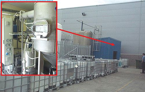 evaporator water treatment system