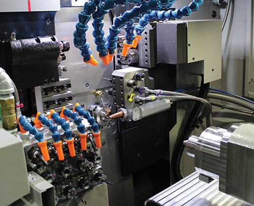 Tsugami Swiss laser's CNC