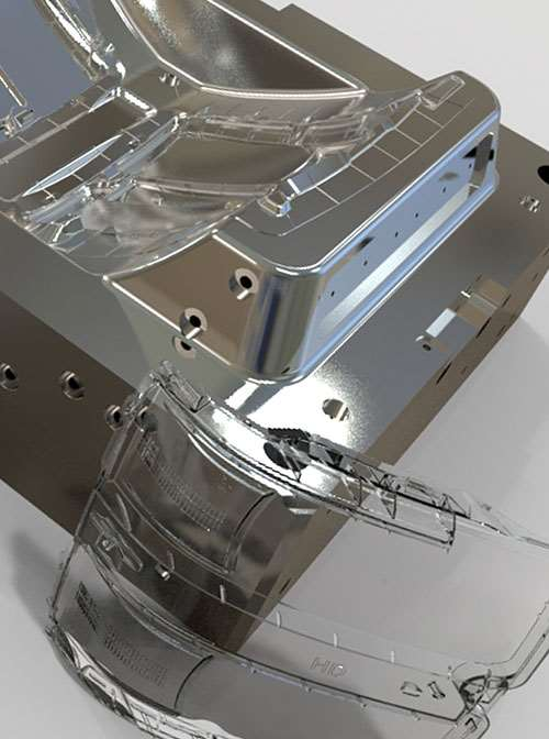 automotive headlight mold