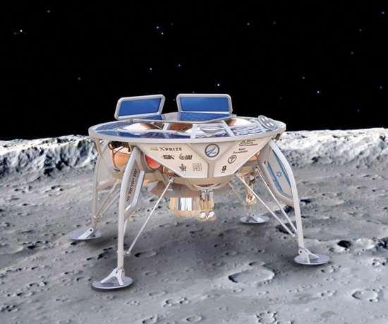 Sparrow moon lander artist's conception