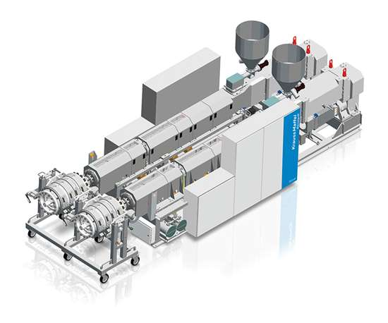 KraussMaffei Berstorff twin screw extruders