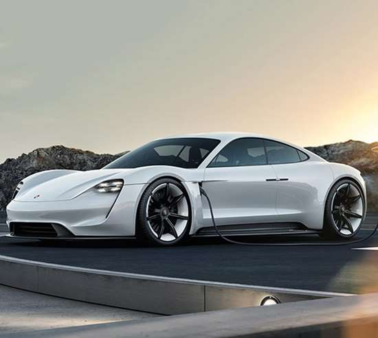 Porsche's Mission E first appeared as a concept at the 2015 Frankfurt Motor Show, but has swiftly moved to production status. The four-door/four-seat sedan has a system power output of more than 600 hp (440 kW), and should propel the car from 0-60 mph in less than 3.5 seconds while offering a range of more than 310 miles. Lithium-ion batteries are integrated into the floor, and charged by an 800-volt charger developed specially for the car, making it possible, Porsche claims, to give the Mission E an 80 percent charge in 15 minutes. Production is expected in 2020.