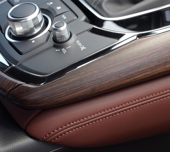 """""""Real aluminum is applied on the IP and door trim. So we offer the warmth of leather and the coolness of aluminum. The wood most manufacturers use is 2D. Ours—rosewood—is more 3D."""" Montousse"""