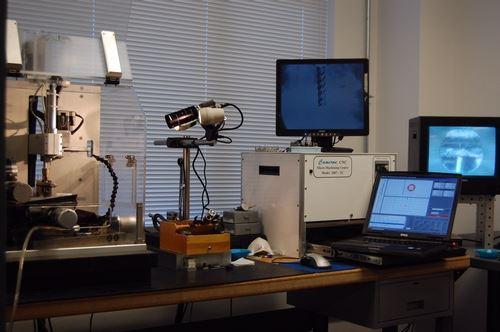Micromachining setup