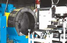 centrifugal disc burnisher/magnetic conveyor/rotary dryer system