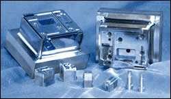 Diamond-polished and chrome-plated components