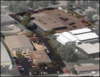 An aerial view of Tech's facilities