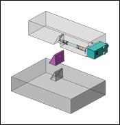 Direct flush mount cavity