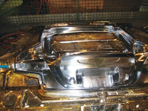 Step 9: A closeup view of an RTM mold